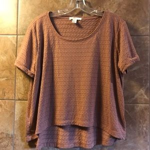 Forever 21 Brown High Low Shirt